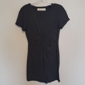 The Impeccable Pig Cutout Dress Gray Size S